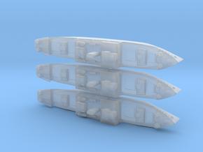 1/3000th scale 3 x Ural soviet minelayer in Smooth Fine Detail Plastic
