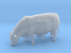 1/32 Polled Grazing Bull in Smooth Fine Detail Plastic