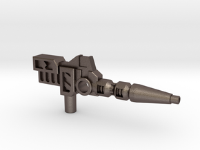 Carnivac's Anti-Thermal Cannon, 5mm in Polished Bronzed-Silver Steel: Medium