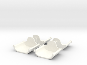 ELEPHANT SEAT X4  in White Processed Versatile Plastic
