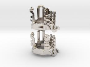 Roman Luke V4 - Part3 CC Inserts in Rhodium Plated Brass