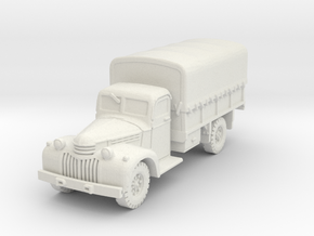 Dodge D15 (covered) scale 1/87 in White Natural Versatile Plastic
