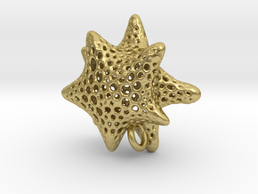 foram star with O ring in Natural Brass