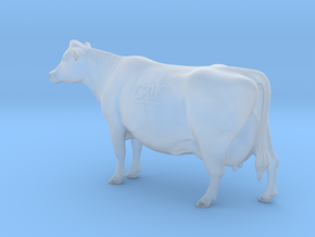 1/64 Jersey Cow Head Up in Smooth Fine Detail Plastic