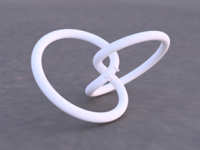 Tritangentless Trefoil Knot in White Natural Versatile Plastic