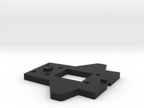 RCRP 002 Mugen MGT 7 Eco  Achsunterlage Hinten in Black Natural Versatile Plastic: 1:8