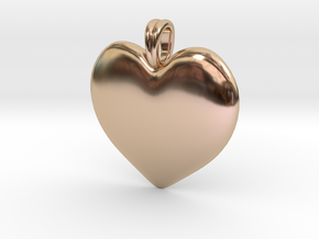 14K Gold Heart Necklace  in 14k Rose Gold