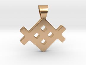 Metenu [pendant] in Polished Bronze