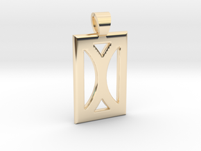 Your month [pendant] in 14k Gold Plated Brass