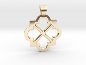 Eight arrows [pendant] in 14k Gold Plated Brass