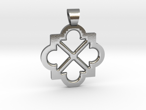 Eight arrows [pendant] in Polished Silver