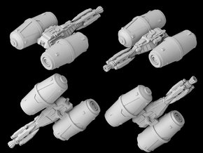 (Armada) Rebel Fuel Tanker in White Natural Versatile Plastic