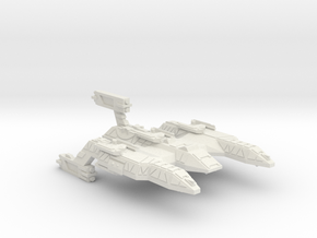 3788 Scale Lyran Refitted Battle Control Ship CVN in White Natural Versatile Plastic