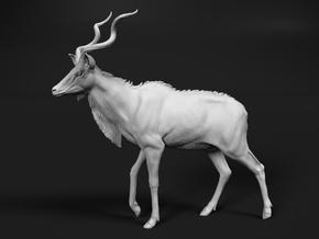 Greater Kudu 1:16 Walking Male in White Natural Versatile Plastic