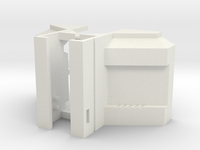 Toyworld Constructor - Shallow Lat fillers in White Natural Versatile Plastic