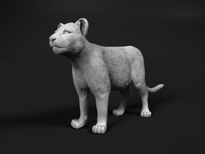 Lion 1:12 Standing Cub in White Natural Versatile Plastic