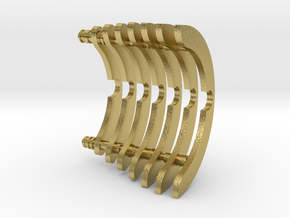 Heat Sink Fins (partial) for PP Starkiller in Natural Brass