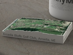Arcadia Bluffs Golf Course, Michigan, 1:20000 in Natural Full Color Sandstone