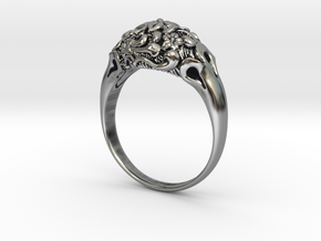 """Fleur"" Dome Ring in Antique Silver"