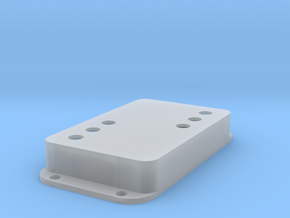 Strat PU Cover, Double Wide, WR-SQ in Smooth Fine Detail Plastic