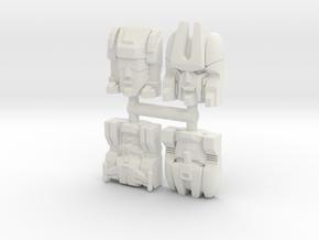 Headmaster Warriors 4-Pack (Titans Return) in White Natural Versatile Plastic