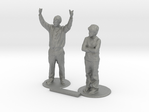 S Scale Standing People 5 in Gray PA12