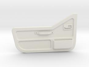 Tamiya Jeep YJ inner door for half door (driver) in White Natural Versatile Plastic