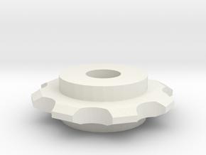 Hex Nut Sprocket in White Premium Versatile Plastic
