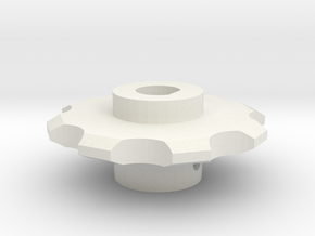 Stepper Sprocket in White Natural Versatile Plastic