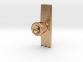 Door Knob with backing plate in 1:6 scale in Natural Bronze
