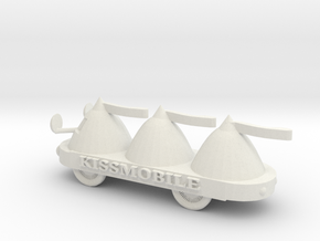 O Scale KissMobile in White Natural Versatile Plastic