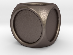 14mm indented die in Polished Bronzed-Silver Steel