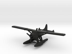 de Havilland Canada DHC-2 Beaver Seaplane in Black Natural Versatile Plastic