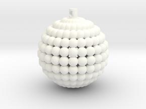 Universe Xmas Ball in White Processed Versatile Plastic