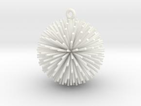 Dandelion Xmas Ball in White Processed Versatile Plastic
