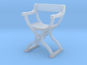 1:64 Savonarola Chair in Smooth Fine Detail Plastic