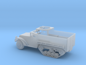 1/160 Scale M3 HalfTrack w tube in Smooth Fine Detail Plastic
