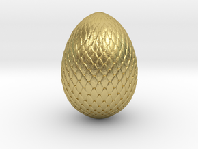 dragon egg 70 mm tall - hollow in Natural Brass