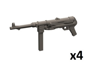 1/12 MP-38 submachine guns in White Processed Versatile Plastic