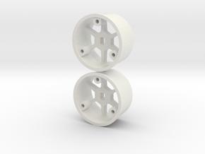 "4WD - 11mm ""No glue !"" - Ø20mm - 0 in White Natural Versatile Plastic"
