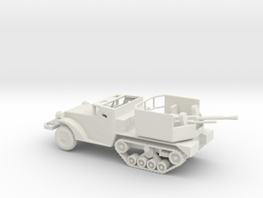 1/87 Scale M15A1 HalfTrack with 37mm AA Gun in White Natural Versatile Plastic
