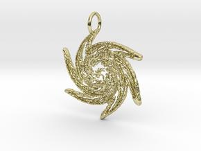 Filigree Starburst Pendant in 18K Yellow Gold: Large