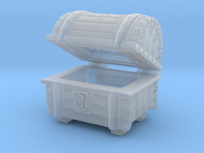 Wooden Chest Hinged in Smooth Fine Detail Plastic