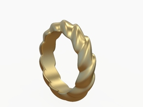 Wavy Ring in 14k Gold Plated Brass: 7 / 54