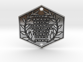 Words of Power & Blessings in Latin Door Plaque in Antique Silver