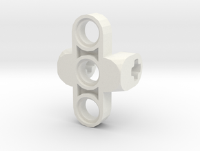 Custom Connector 2 in White Natural Versatile Plastic