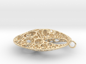 Klein Moon Pendant in 14k Gold Plated Brass