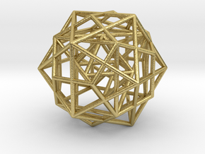 Nested Platonic Solids -Round Wires in Natural Brass