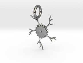 Crack Of The Sunflower Pendant in Fine Detail Polished Silver