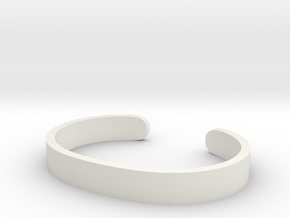 Cosplay Cuff (6.5cm x 4.5cm) Set 1 in White Natural Versatile Plastic: Extra Small